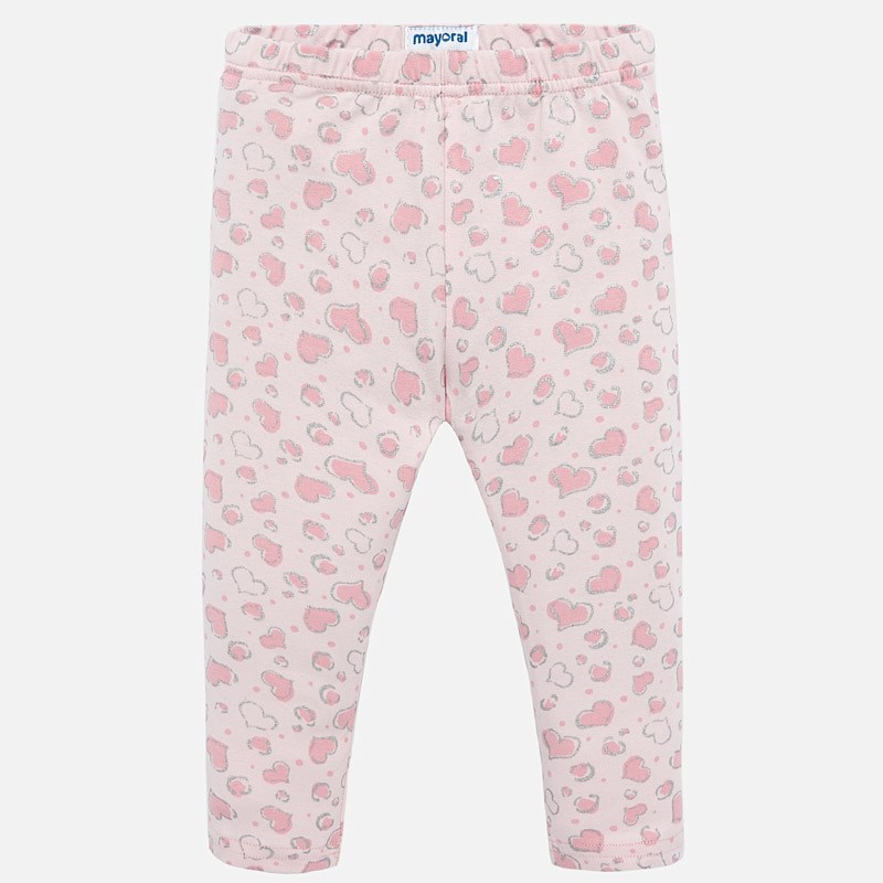 d25c87a68674b Heart leggings for baby girl Pink - Mayoral