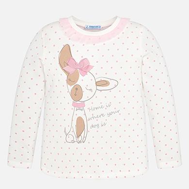 69a5e7bdf Short sleeved doll print t-shirt for girl Cream - Mayoral