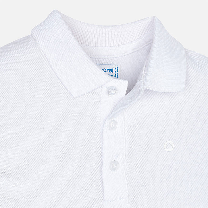 Koszulka polo basic z krótkim rękawem dla chłopca Biały