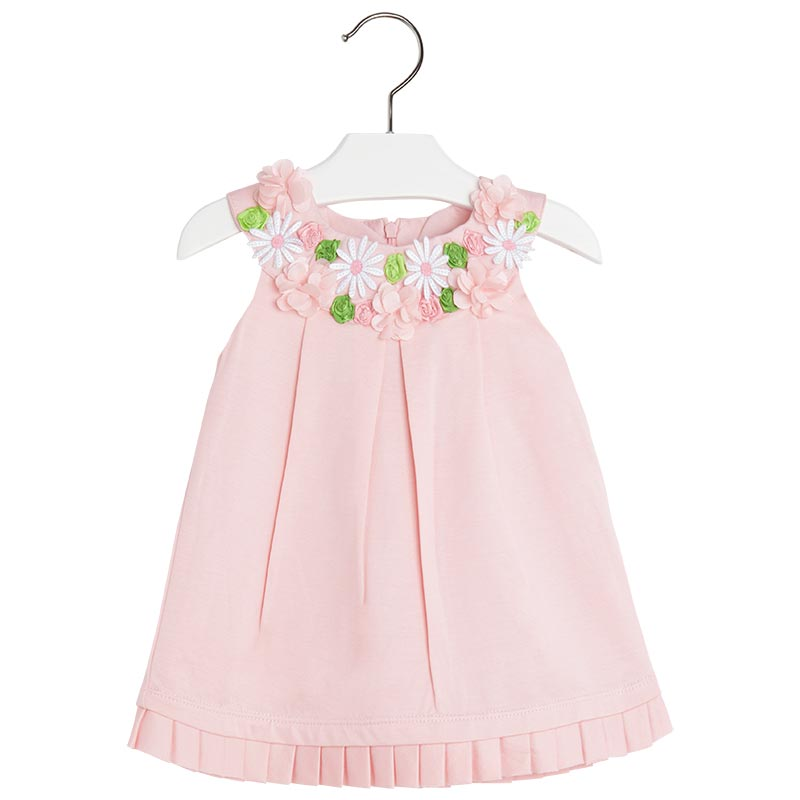 Mayoral Baby Girl 3M-24M Tier Pleated Shoulder A-Line Social Dress