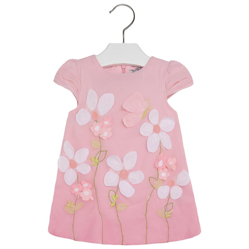 042971f35 Details about Mayoral Baby Girl 3M-24M Embroidered Organza Overlay A-Line  Dress