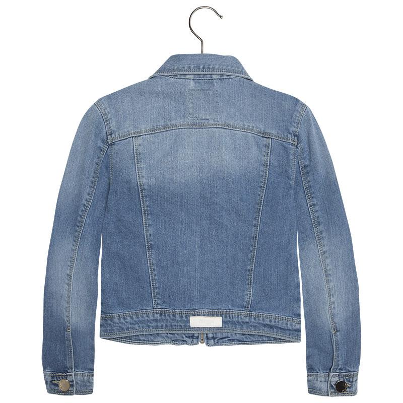 c03ca97d3cb Mayoral Big Girls Tween Braided Zip Front Denim Jean Jacket