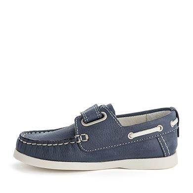 Buty w stylu marynarskim na rzepy Granatowy