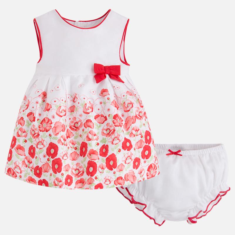 Zweiteiliges Baby-Kleid für Mädchen mit Print Klatschmohn - Mayoral