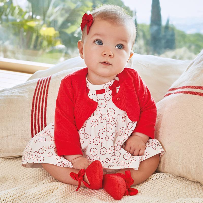 Sukienka z wzorkami dla dziewczynki Mak