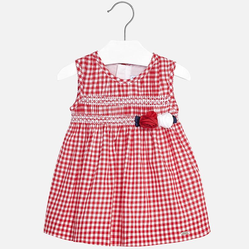 Vestido de vichy niña Rojo - Mayoral