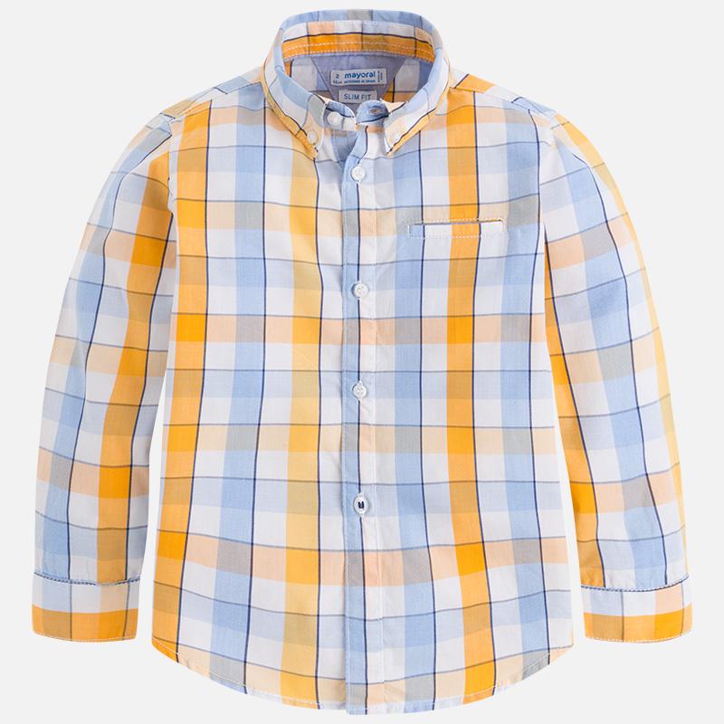 Camisa con cuadros de manga larga para niño Abeja - Mayoral