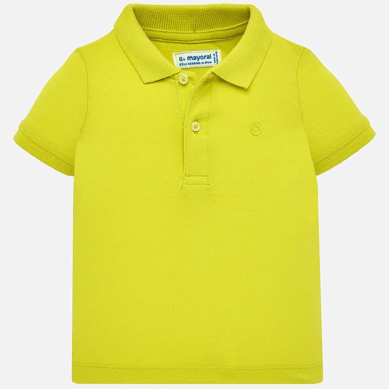 ca2529925 Short sleeved basic polo shirt for baby boy Lemon - Mayoral