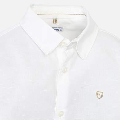Πουκάμισο μακρυμάνικο λινό Λευκό - Mayoral 17a91f3ecd2