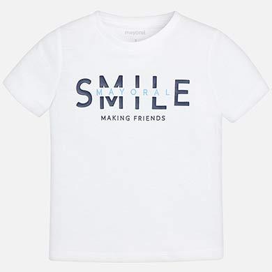 a62874464 Camiseta manga corta smile niño Blanco - Mayoral