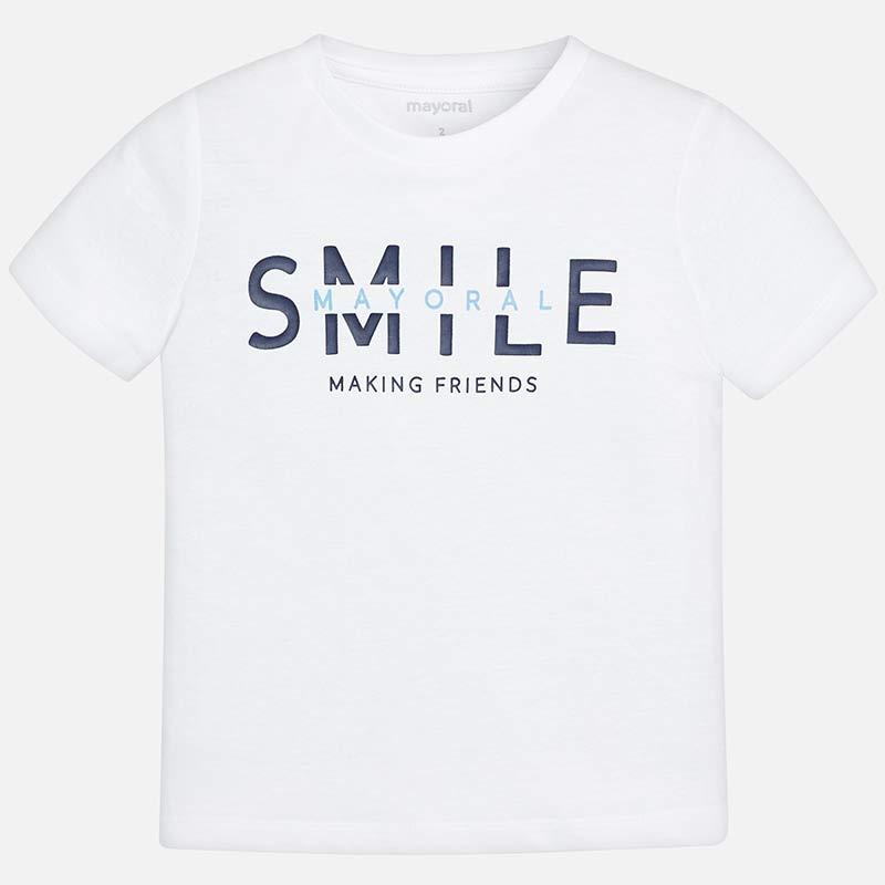 dca4745a10aa1 Camiseta manga corta smile niño Blanco - Mayoral