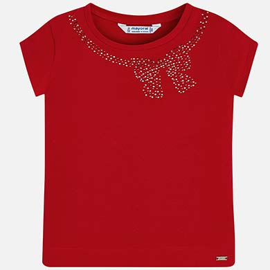 7901cc7efb Short sleeved t-shirt with bow for girl