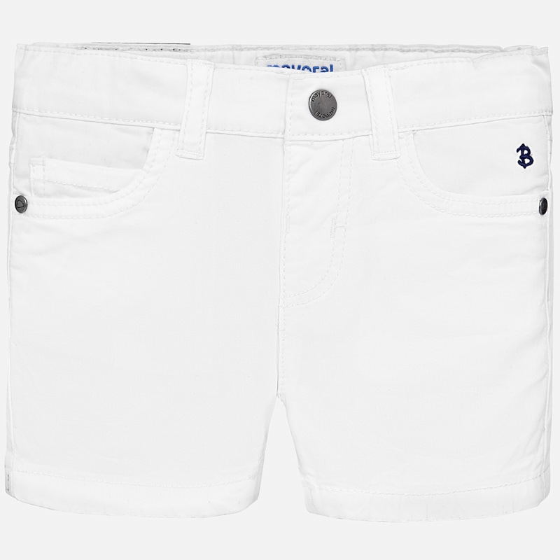ventas calientes 594e8 f14a9 Basic twill shorts for baby boy White - Mayoral