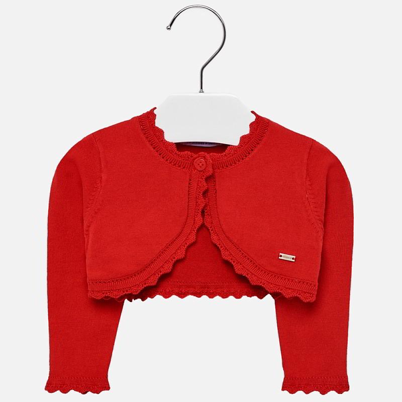 31d4e35322cd Short cardigan for baby girl Rojo - Mayoral