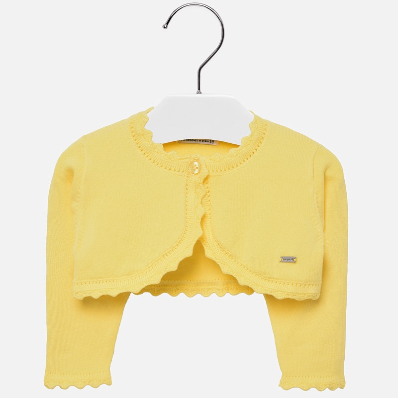 1d7c5a685 Short cardigan for baby girl Yellow - Mayoral