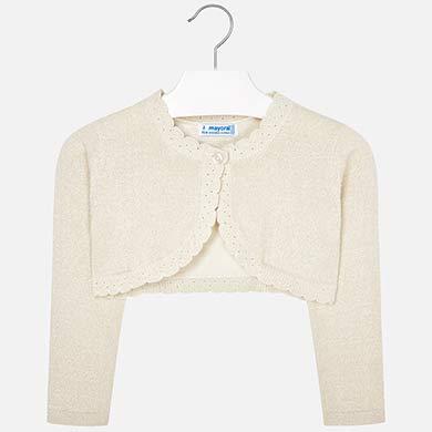 c352f5a5266 Basic knit cardigan for girl Metallic Sand - Mayoral