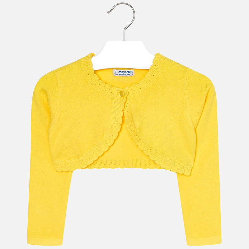 7b8e8ca18 Basic knit cardigan for girl Yellow - Mayoral