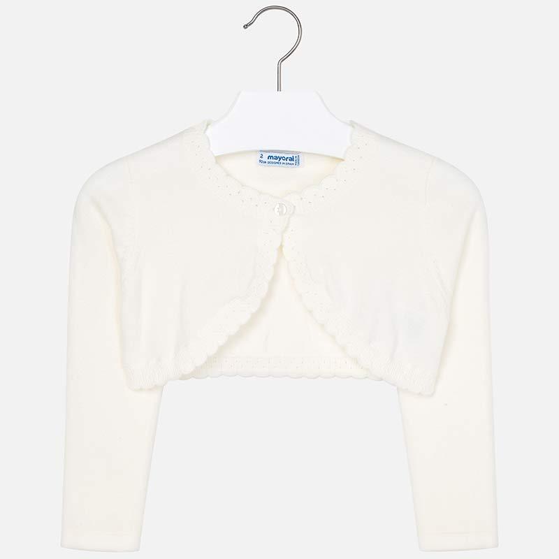 0ea5f753ab0 Basic knit cardigan for girl Cream - Mayoral