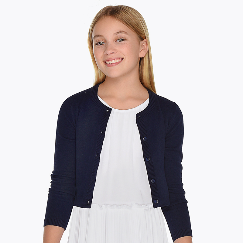 a3a74859e35 Basic cardigan for girl Navy blue - Mayoral