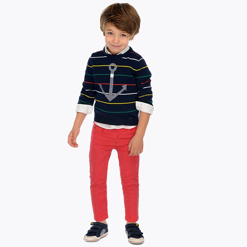 df60c649c Pantalón largo básico slim fit niño Rojo - Mayoral