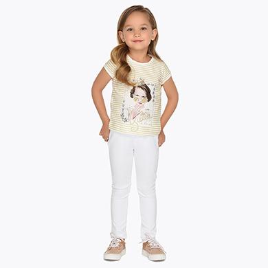 Pantalón largo punto niña Blanco - Mayoral b320f95042e8