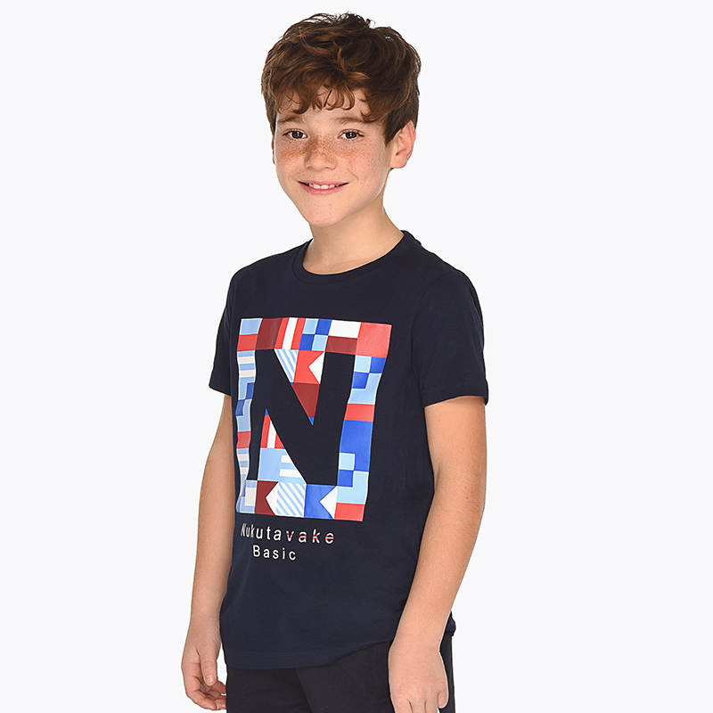 a2ccdc7508 Short sleeved logo t-shirt for boy Navy blue - Mayoral