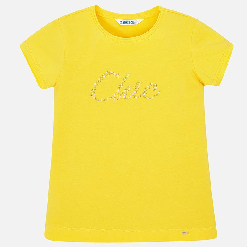 37dae221384d5c Short sleeved basic  Chic  t-shirt for girl Yellow - Mayoral