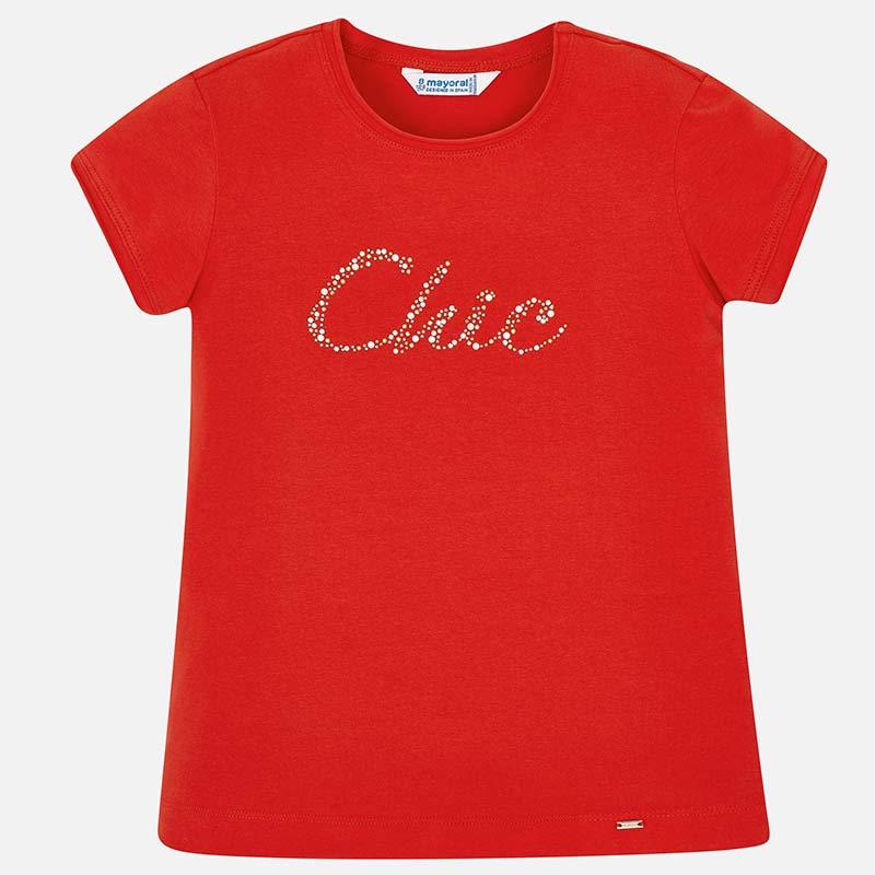 85c05ec22 Camiseta manga corta Chic niña Rojo - Mayoral