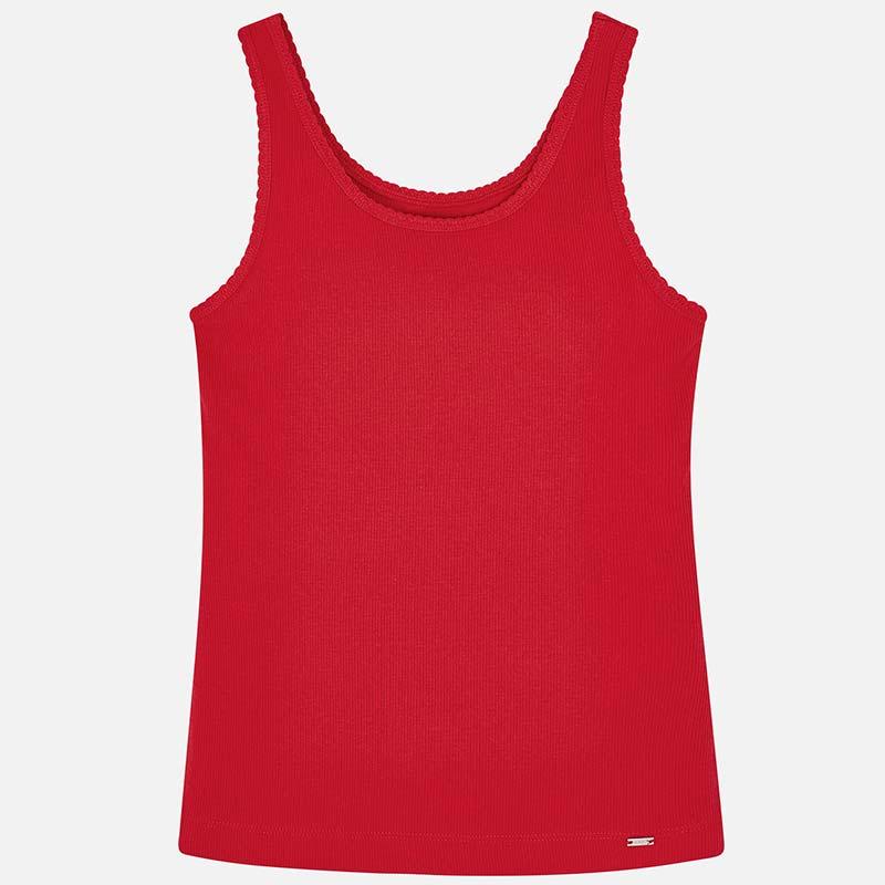 9486260c6533 Camiseta tirantes básica niña Rojo - Mayoral