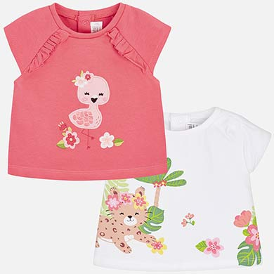 95e23f32c Patterned dress with headband for newborn girl Flamingo - Mayoral