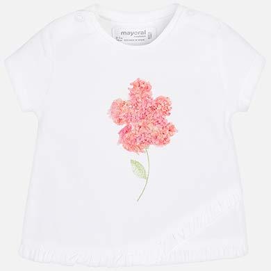 Μπλούζα κοντομάνικη λουλούδι 15ebe215ff9