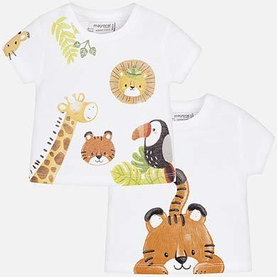 ab46fad86 Short sleeved t-shirt set for newborn boy