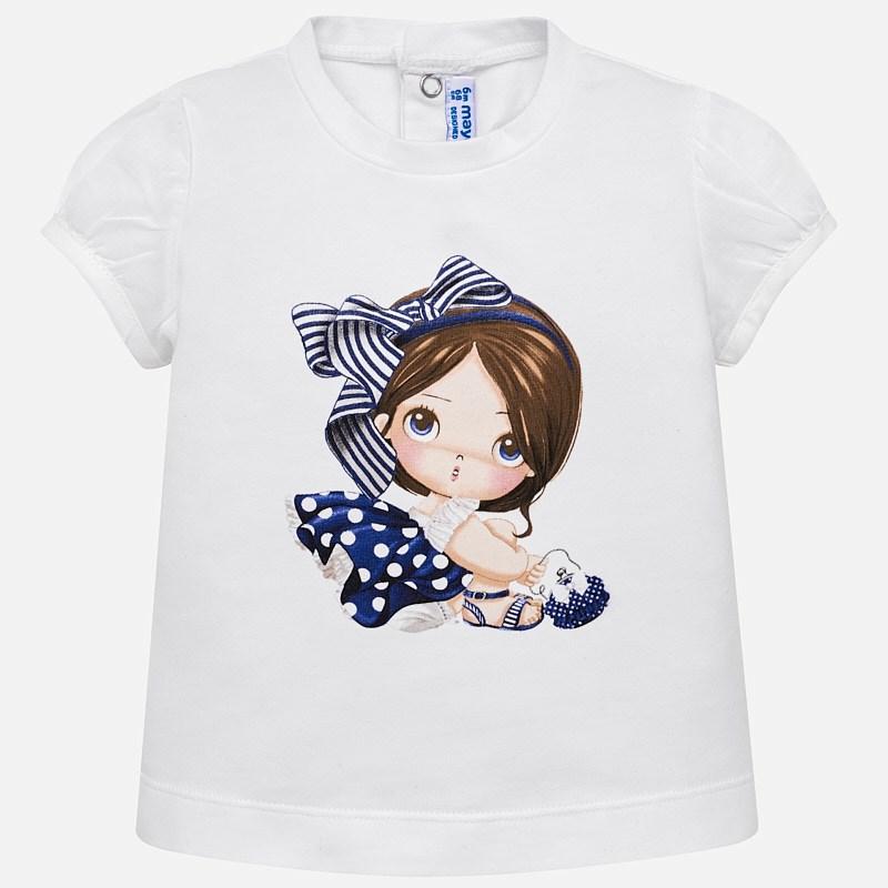 Μπλούζα κοντομάνικη σχέδιο baby κορίτσι Ναυτικό μπλε - Mayoral 3981799cc4a