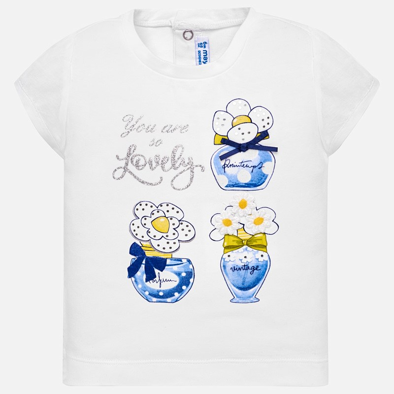 Short sleeved t-shirt for baby girl Blue - Mayoral