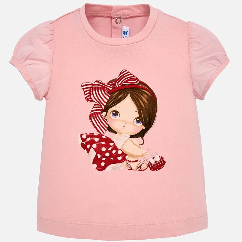 62c1c2f7c34 Μπλούζα κοντομάνικη σχέδιο baby κορίτσι Ροζ - Mayoral