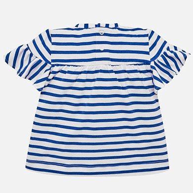 860db510e9 Μπλούζα κοντομάνικη ριγέ baby κορίτσι Μπλε - Mayoral