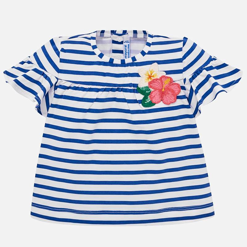 507e403df77df9 Striped short sleeved t-shirt for baby girl Blue - Mayoral