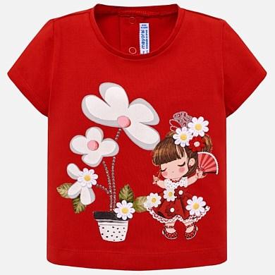 b6ad56930ce2a Camiseta manga corta dibujo bebé niña