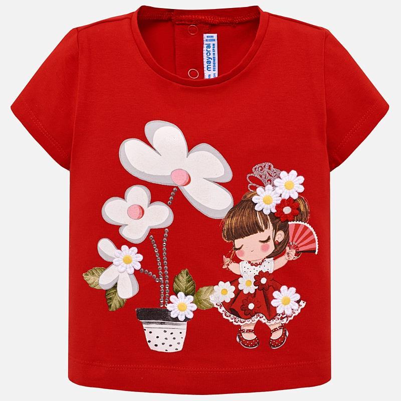 c9c9dcf79 Camiseta manga corta dibujo bebé niña Rojo - Mayoral