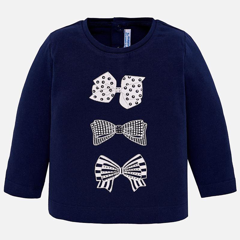 1b4311ff99b7 Long sleeved print t-shirt for baby girl Navy blue - Mayoral