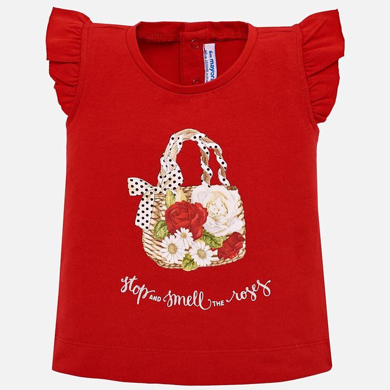 3fa0d877f Camiseta tirantes dibujo bebé niña Rojo - Mayoral