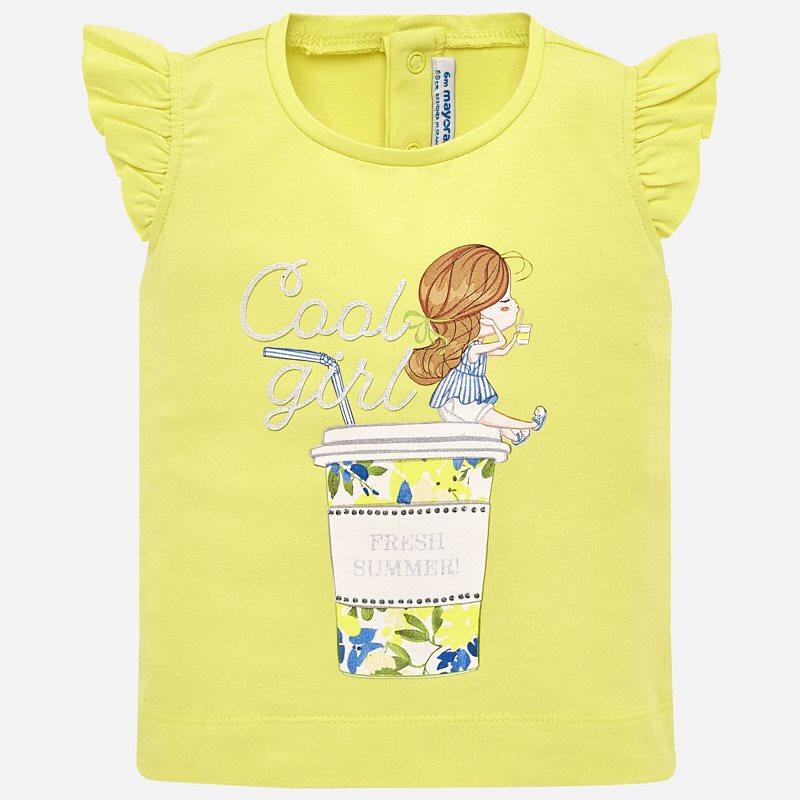 1d2645023 Camiseta tirantes dibujo bebé niña Citrón - Mayoral