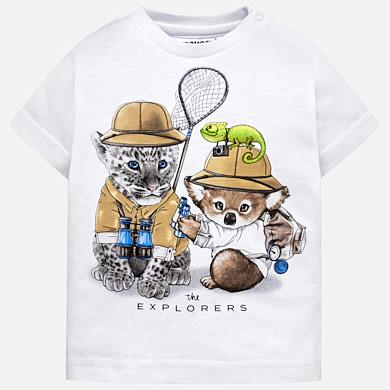 Camiseta manga corta animalitos bebé niño fae6ae88029f3