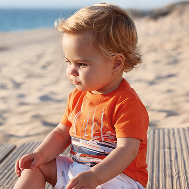 1e1873b2f Short sleeved t-shirt for baby boy Passion fruit - Mayoral