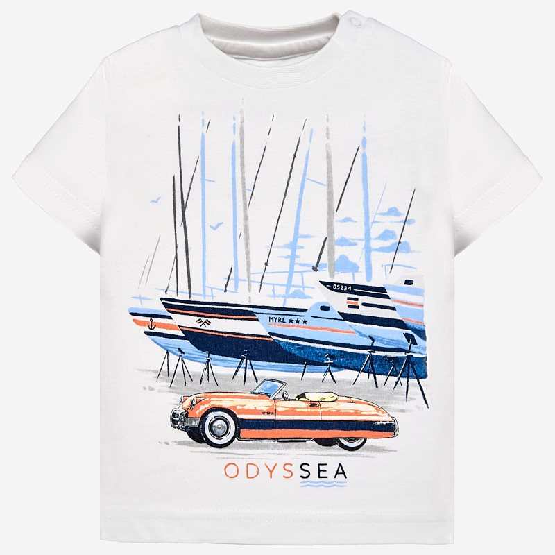 55072f67ba7e Μπλούζα κοντομάνικη σχέδια baby αγόρι Λευκό - Mayoral