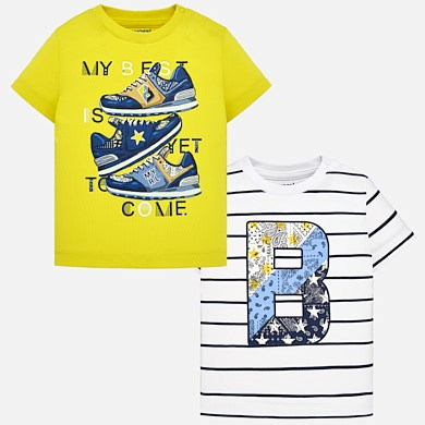 cb06f9d21 Short sleeved t-shirt set for baby boy