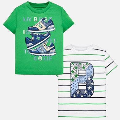 Set camisetas manga corta bebé niño e39a346b842ef