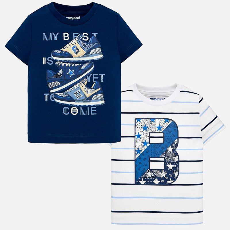 c359f2d596eb Σετ μπλούζες κοντομάνικες baby αγόρι Χάλυβας μπλε - Mayoral