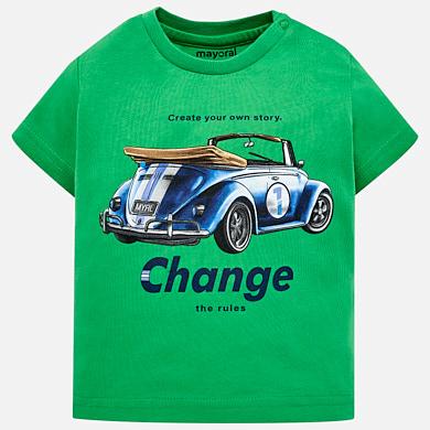 Camiseta manga corta coche bebé niño 02f94a86c1ab1