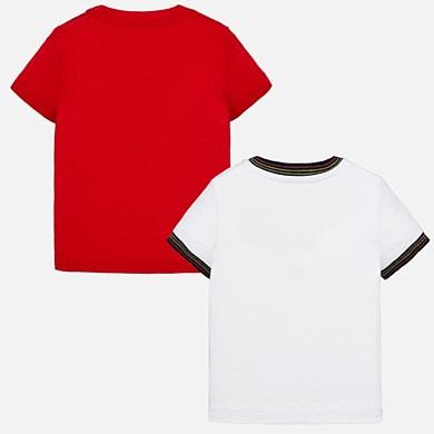 Σετ μπλούζες κοντομάνικες στάμπα baby αγόρι Κόκκινο - Mayoral 60aae602f42